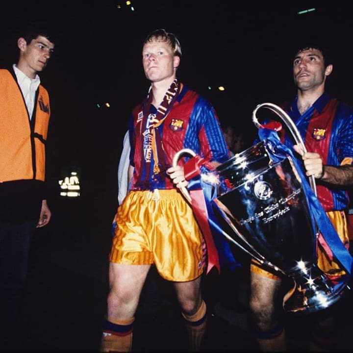 Koeman after the European Cup final against Sampdoria in 1992