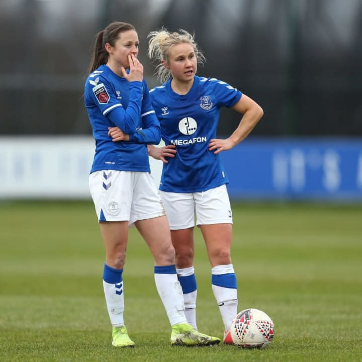 Everton are due to face Chelsea in the WSL on 17 March