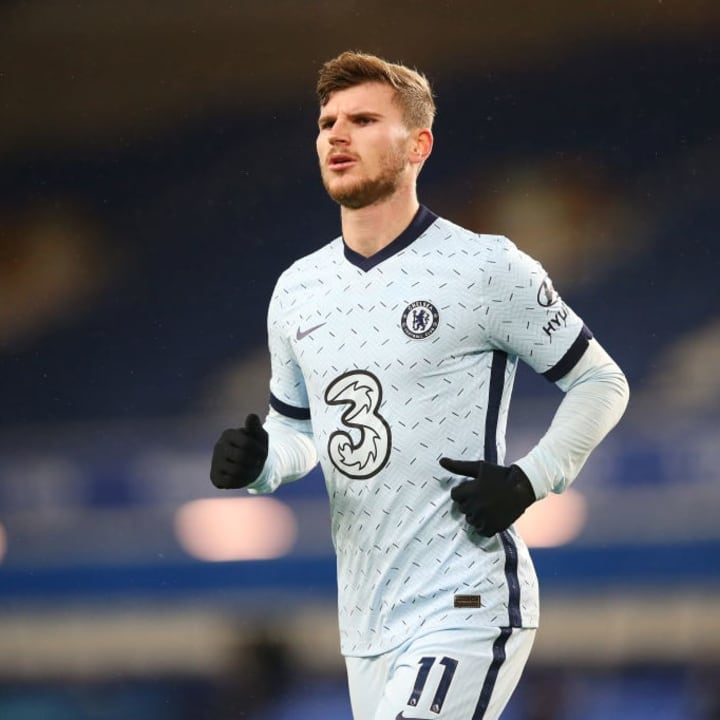 Werner has been lively, but has struggled in front of goal