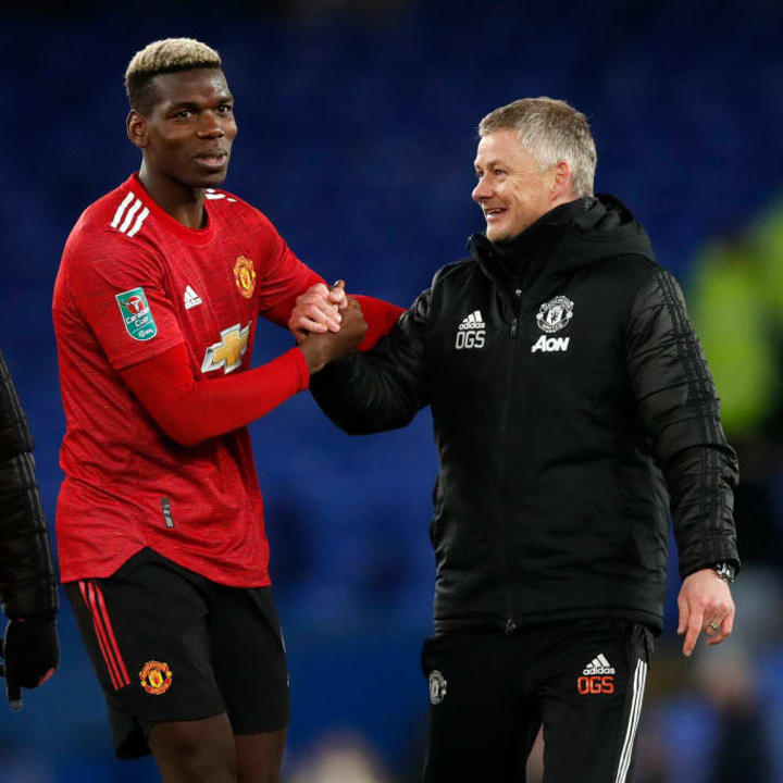 Solskjaer has been impressed with Pogba's performances