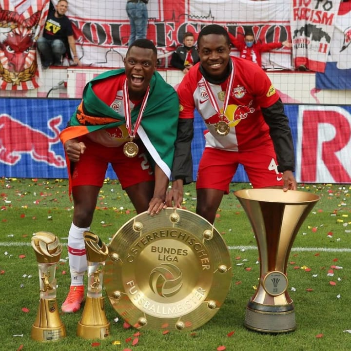 Enoch Mwepu and his Patson Daka won the Bundesliga and OFB-Cup with Red Bull Salzburg in 2020/21