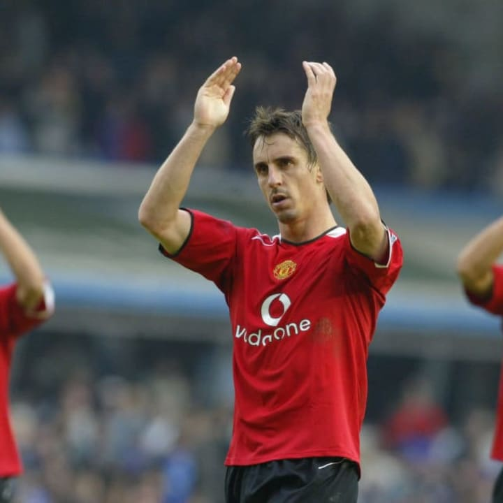 Gary Neville was United's first-choice right-back for many years