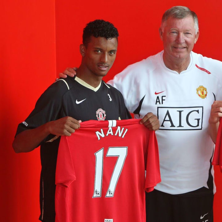 Nani was a youngster when he signed