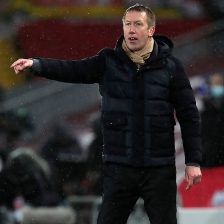 Graham Potter has not lost a game as Brighton manager when he was worn his lucky scarf