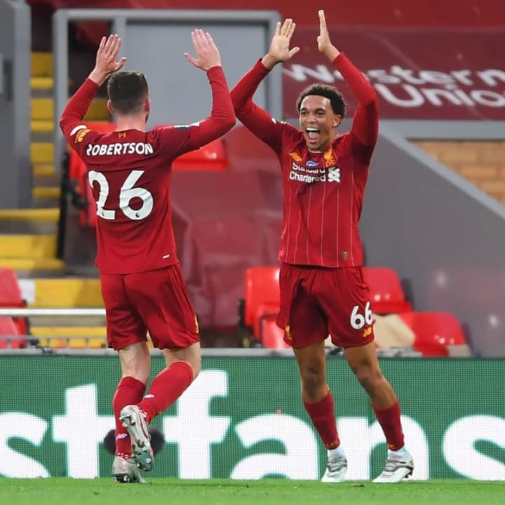 Alexander-Arnold and Robertson have proved key to Liverpool's progression