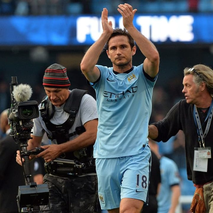 Frank Lampard has a short spell at Man City after leaving Chelsea