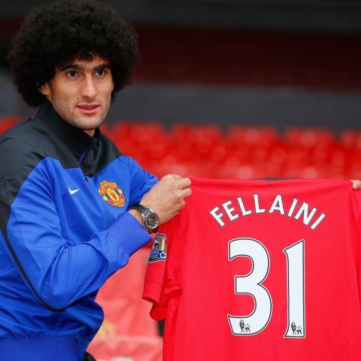 Fellaini followed David Moyes from Everton in 2013