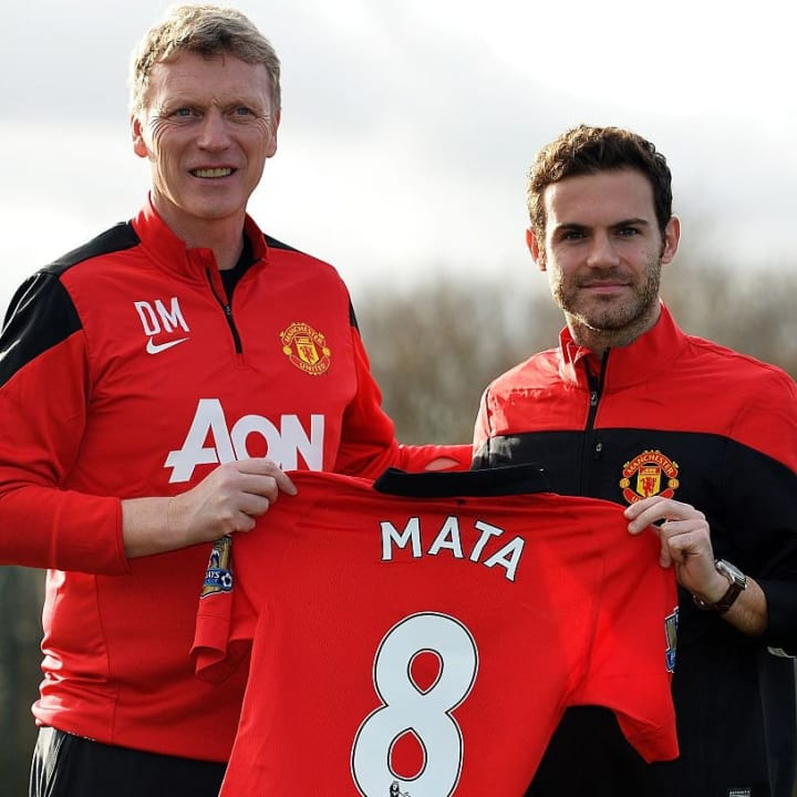 Mata traded blue for red in 2014