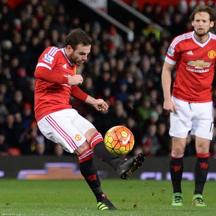 Juan Mata left-footed free-kick