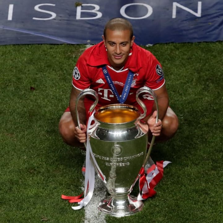 Thiago won the Champions League with Bayern in 2019/20