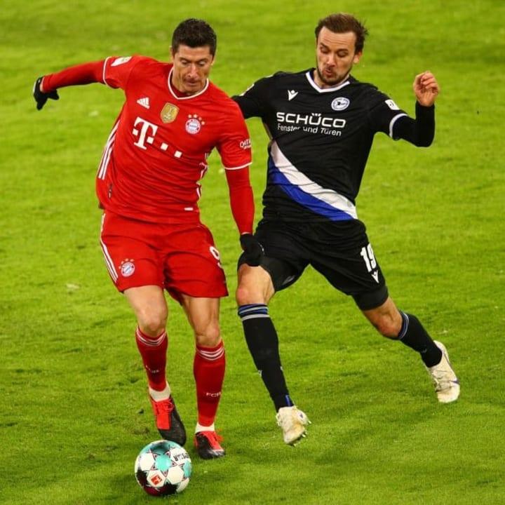 Lewandowski was back among the goals