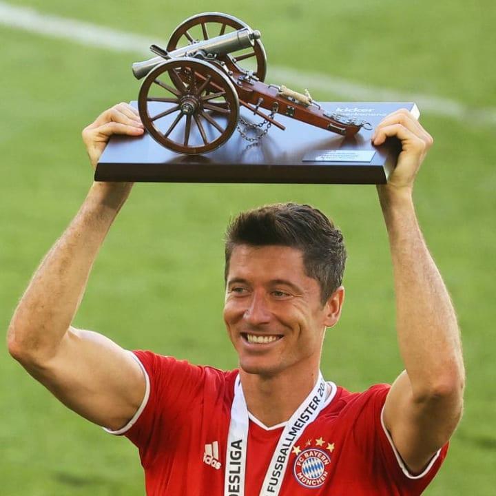 Lewandowski was the deserved winner of the Bundesliga Footballer of the Year award.