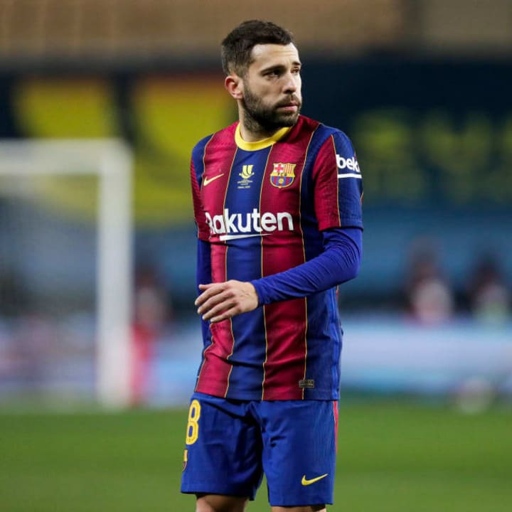 Jordi Alba turns 32 in March