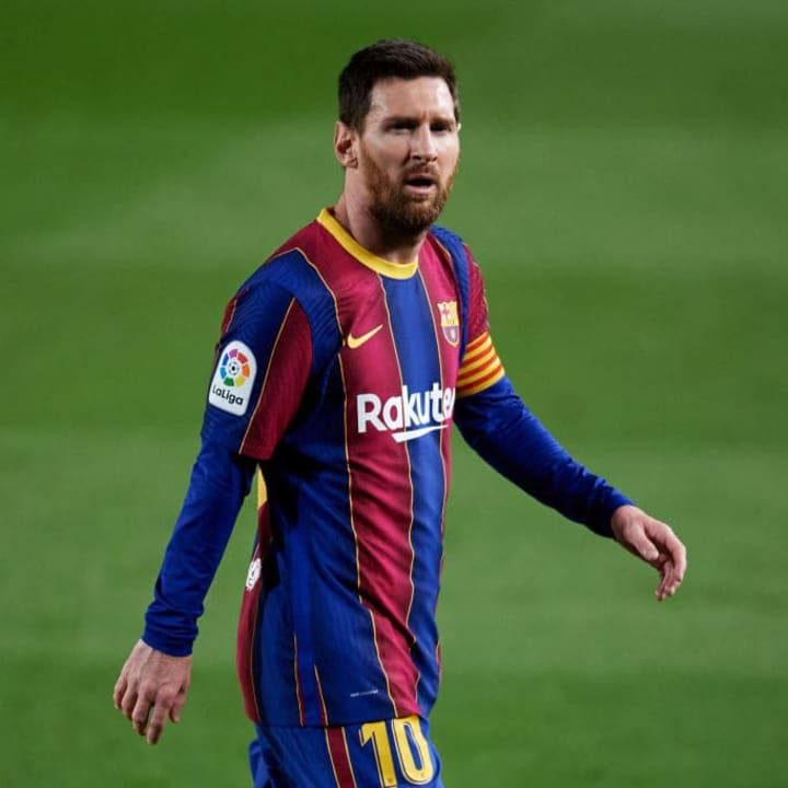 Messi looked frustrated against Elche
