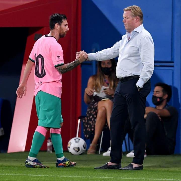 Lionel Messi, Ronald Koeman