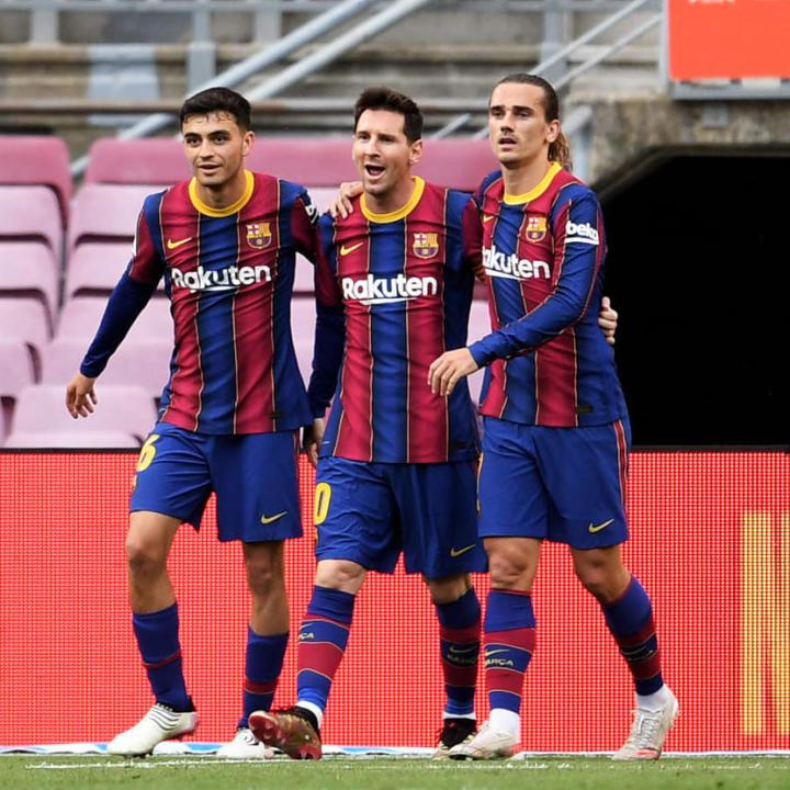 Messi celebrates against Celta Vigo