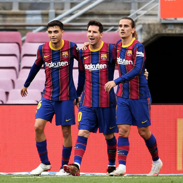 Lionel Messi, Antoine Griezmann, Pedri