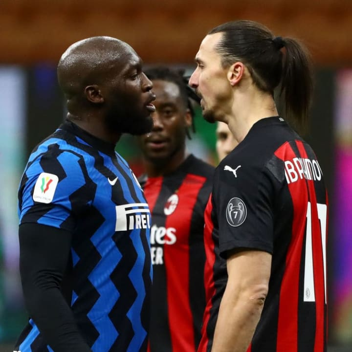 Ibrahimovic clashed with Lukaku at the end of the first half, and was sent off not too long after