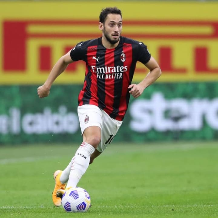 Calhanoglu is in the final year of his Milan contract
