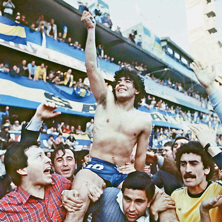 A young Maradona in 1981