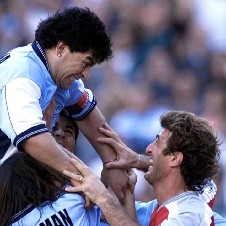 Former Argentine soccer star Diego Marad