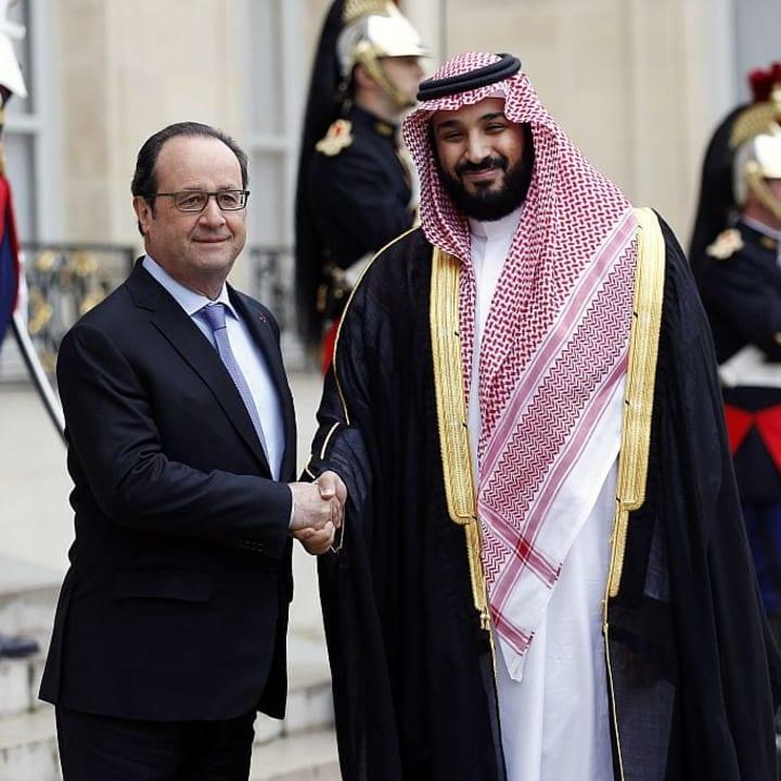 Francois Hollande, Mohammed Bin Salman Al Saud