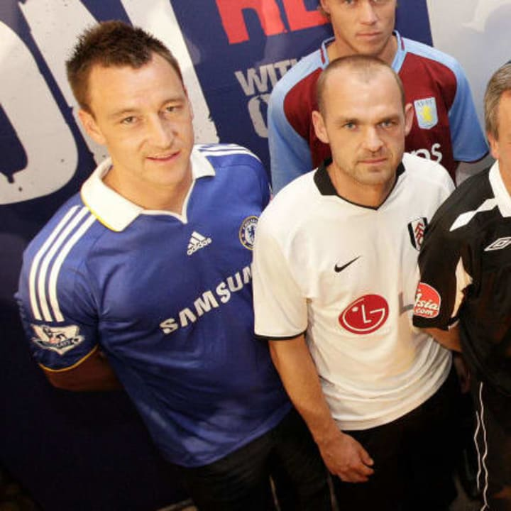 Front (from L to R) Chelsea captain John