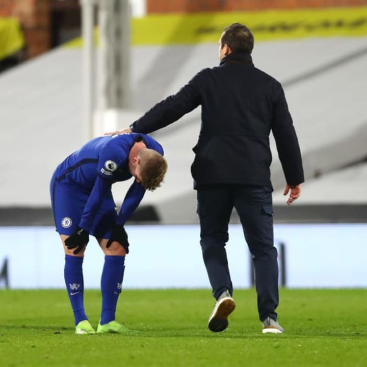 Lampard appeared to console Werner after the game