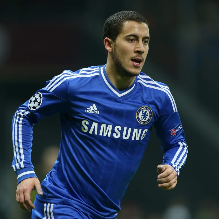 Hazard never hit the heights for Chelsea in the Champions League