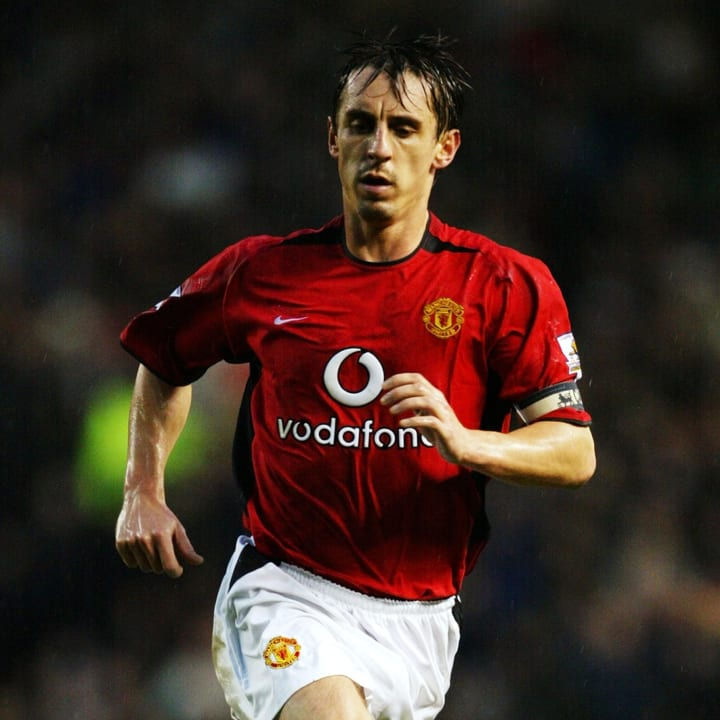 Gary Neville of Manchester United in action