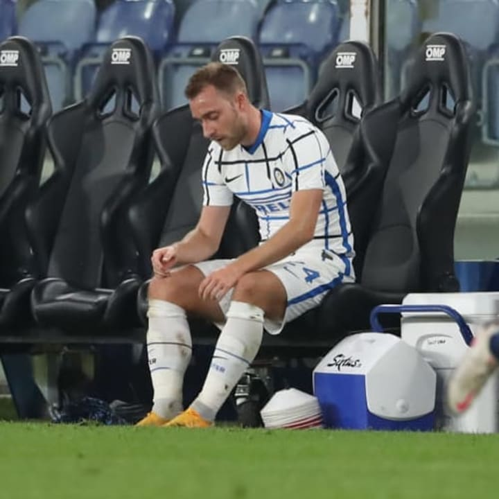 Eriksen hasn't played as much as he would have liked in Italy