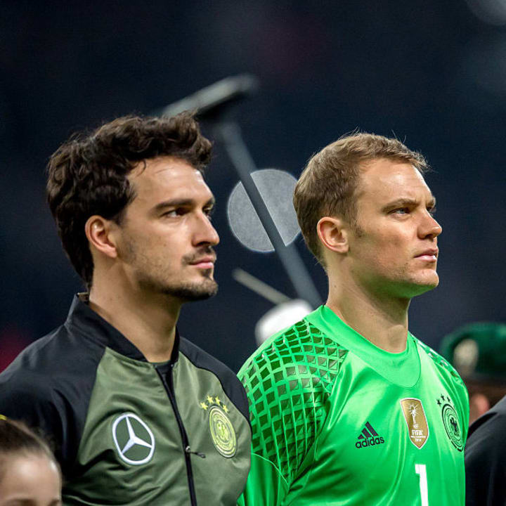 Hummels and Neuer played together for the national team and Bayern Munich