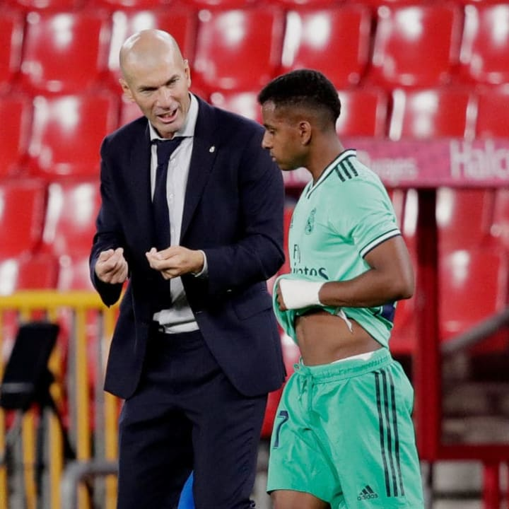Rodrygo, Zinedine Zidane