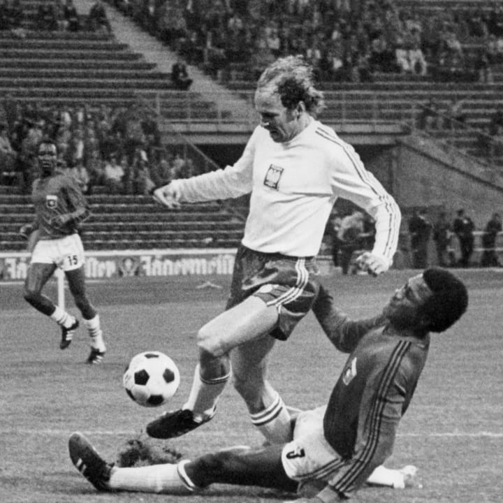 Lato during a World Cup game against Haiti