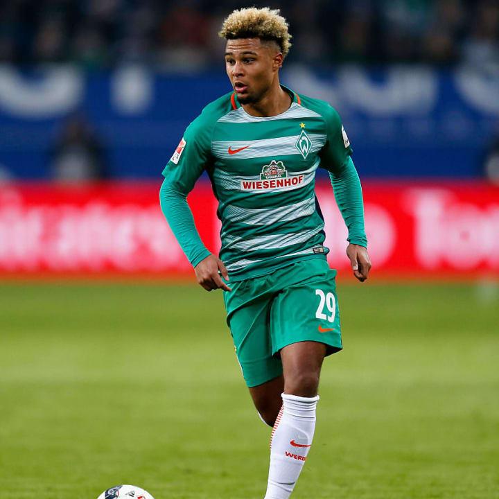 Serge Gnabry im Werder-Trikot