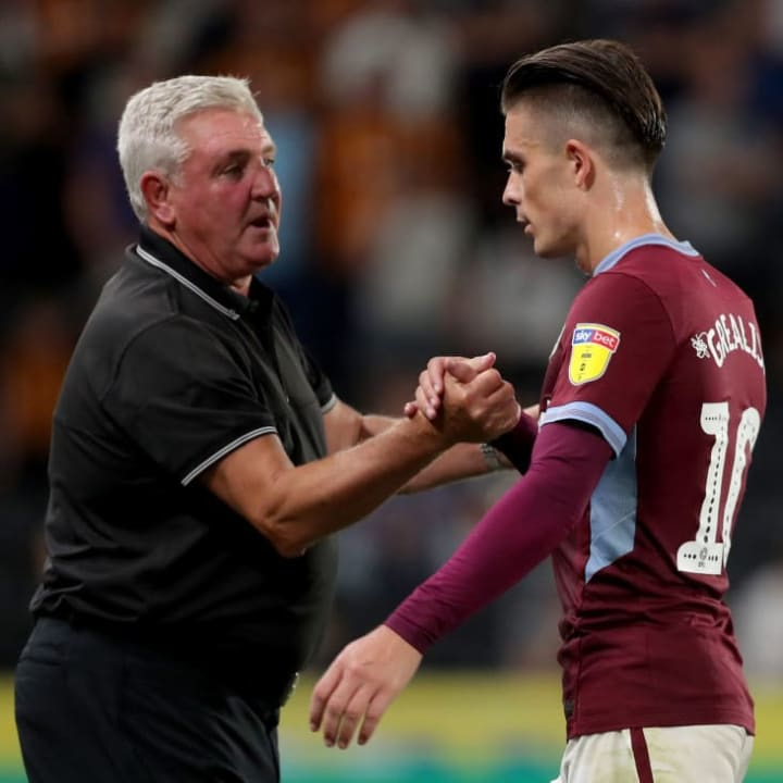 Steve Bruce spent 2 years working with Grealish at Aston Villa