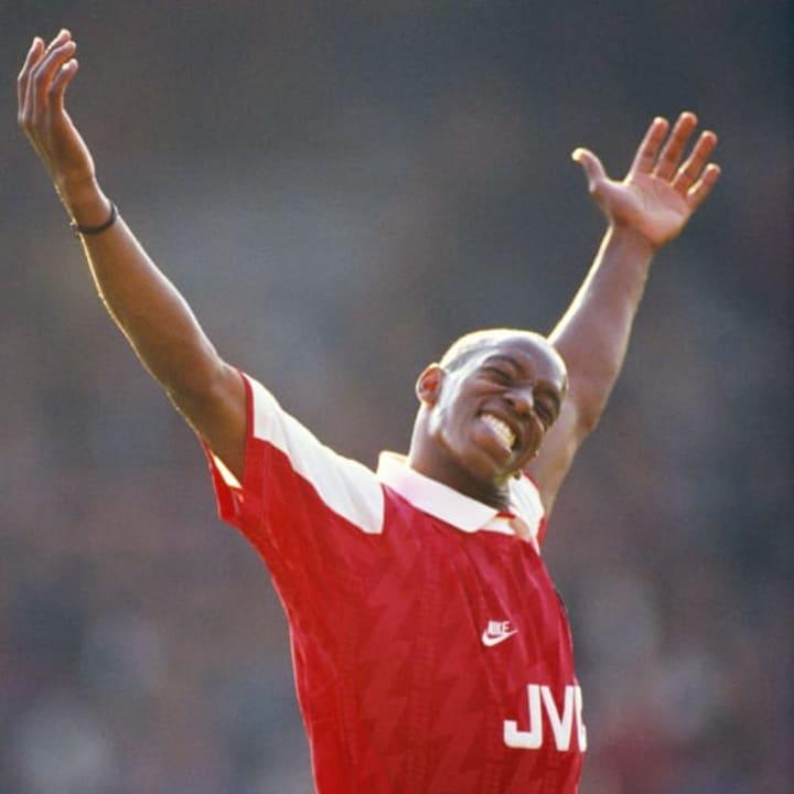 Ian Wright was Arsenal's leading goalscorer that season