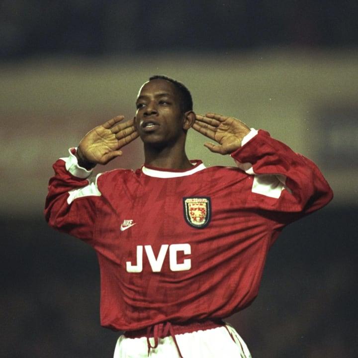 Ian Wright of Arsenal