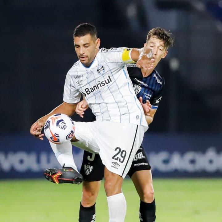 Diego Souza Richard Schunke Grêmio Del Valle Libertadores