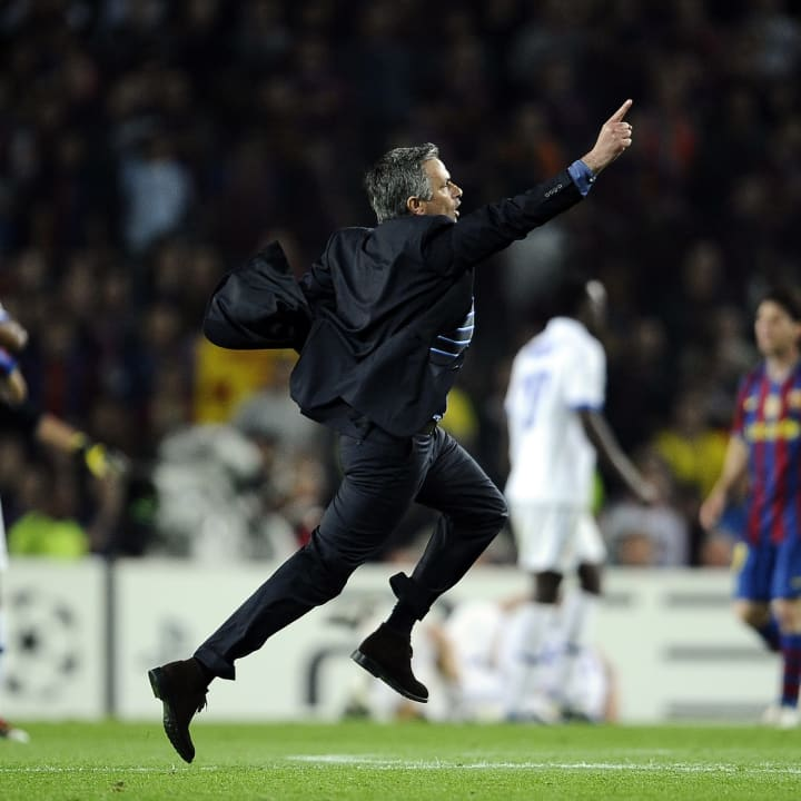Mourinho's sprint on the pitch will never be forgotten
