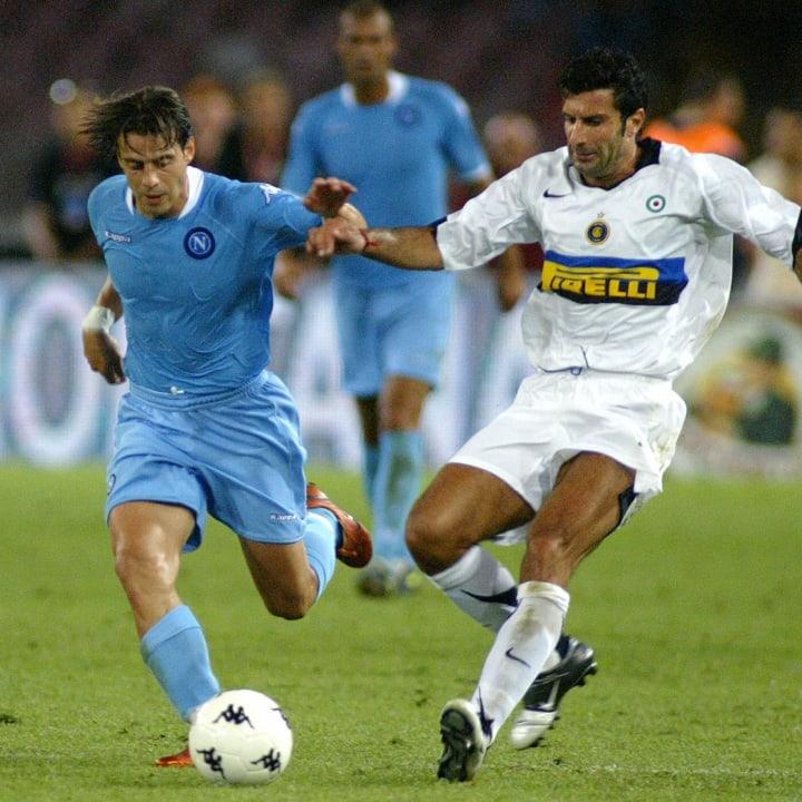 Inter Milan's Portuguese forward Luis Fi