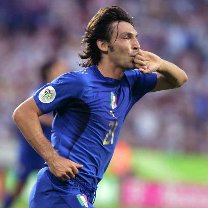 Italian midfielder Andrea Pirlo reacts a