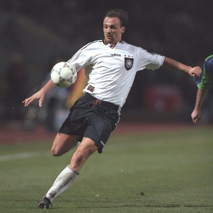 Jurgen Kohler of Germany in action