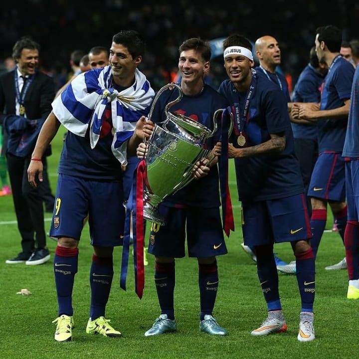 Luis Suarez, Lionel Messi, Neymar