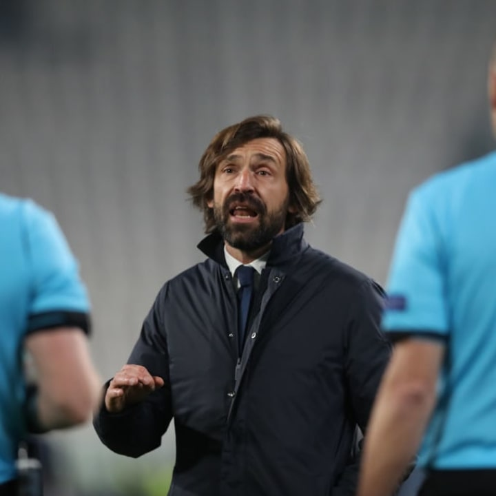 Andrea Pirlo saw his Juventus side crash out of the Champions League on Tuesday night