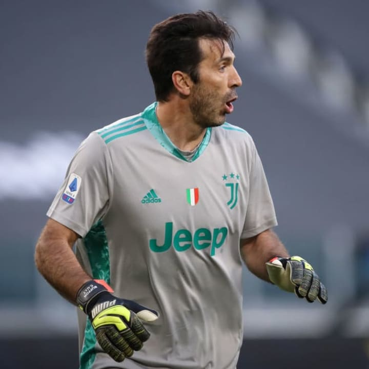Buffon left Juve in 2018 but returned a year later