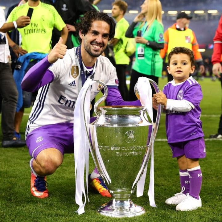 Isco has won the Champions League four times