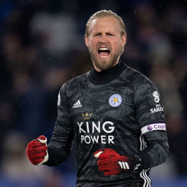 Schmeichel has been an ever-present pair of safe hands for the Foxes