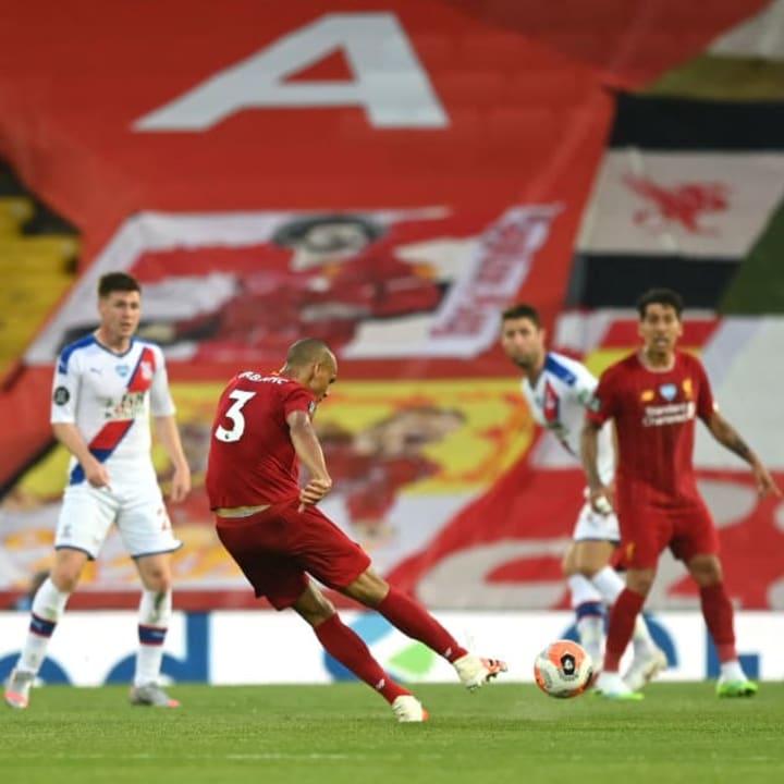Fabinho scored two goals this season - both longe-range hits