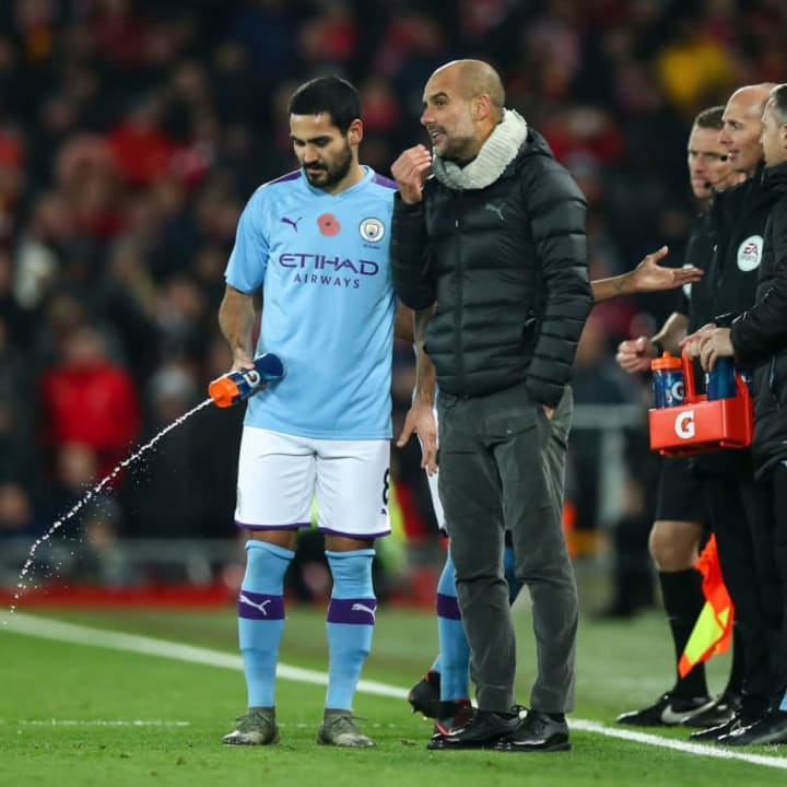 lkay Gundogan, Pep Guardiola